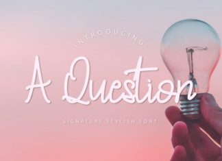 A Question - Handwritten Font