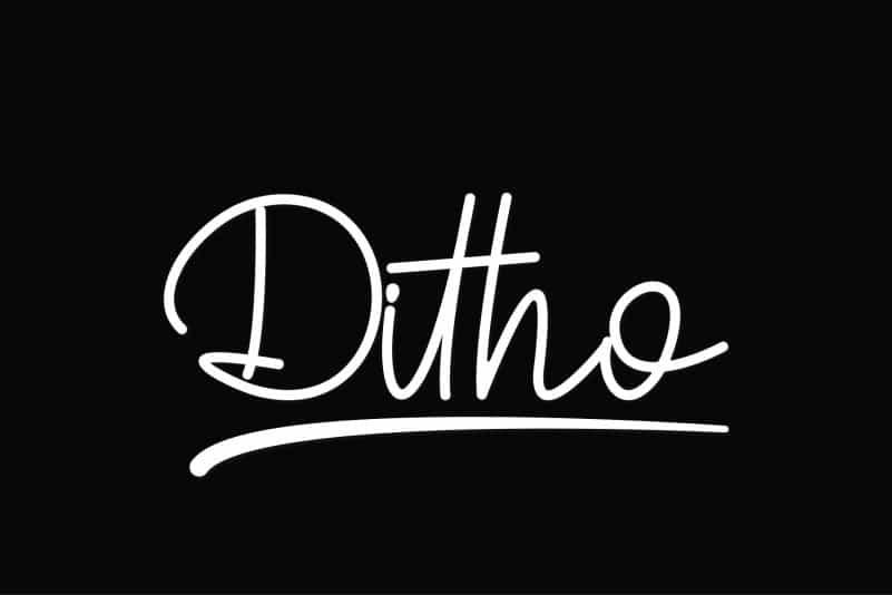 Ditho Handwritten Script Font