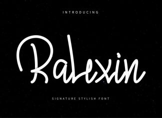 Ralexin Signature stylish font