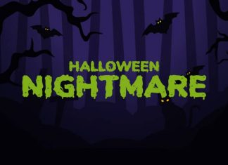 Halloween Nightmare Spooky Display Font