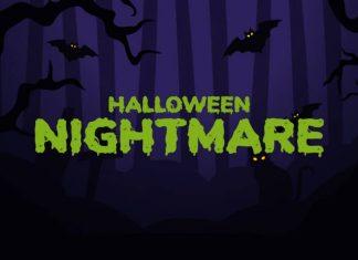 Halloween Nightmare Spooky Display Font