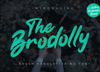 The Brodolly Brush Font