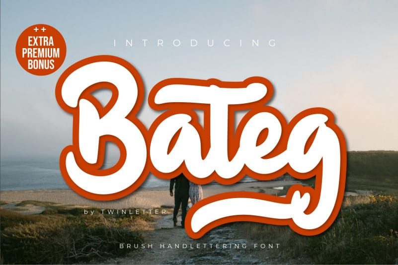 Bateg Script Font