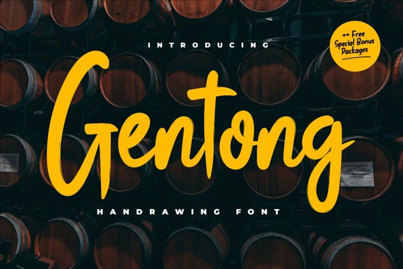 Gentong Script Font