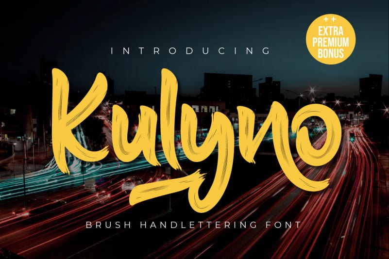Kulyno Brush Font