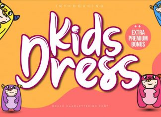 Kids Dress Brush Font