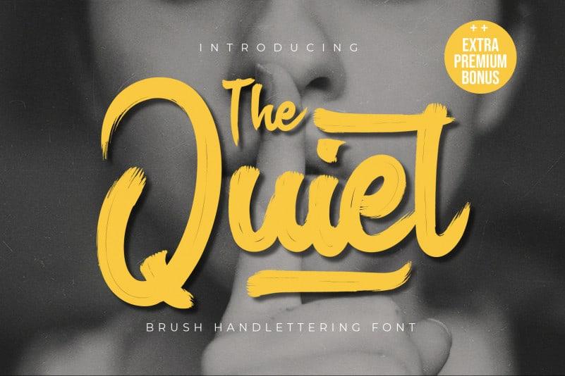 The Quiet Script Font