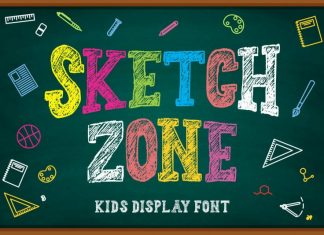 Sketch Zone Display Font