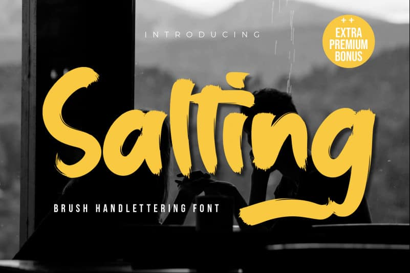 Salting Brush Font