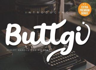 Buttgy Script Font