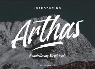 Arthas Script Font