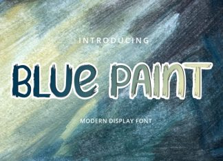 Blue paint Brush Font