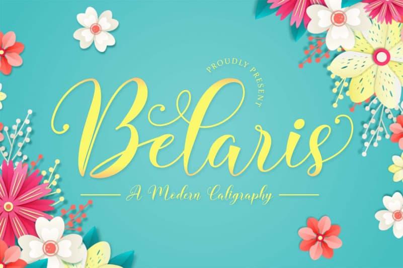 Belaris - Modern Calligraphy Font