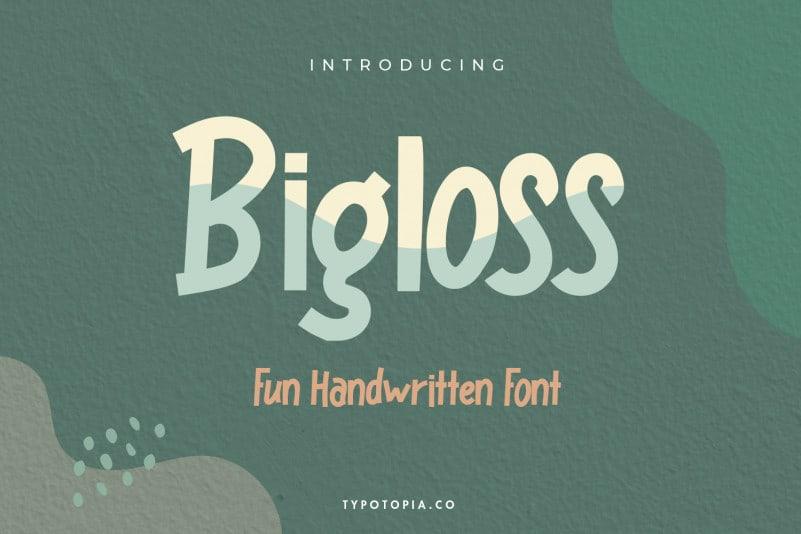 Bigloss Display Font