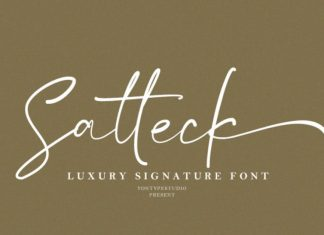 Satteck A Luxury Calligraphy Font