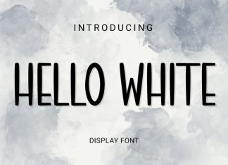 Hello white Display Font