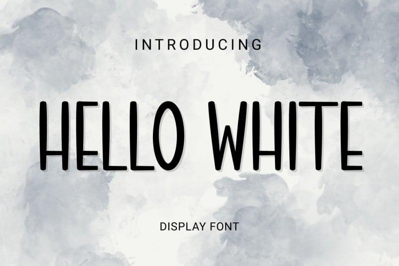 Hello white Display Font
