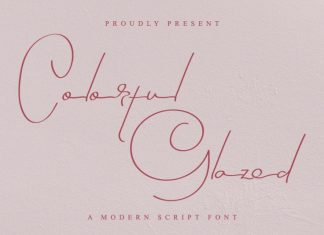 Colorful Glazed Signature Font