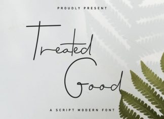 Treated Good Signature Font