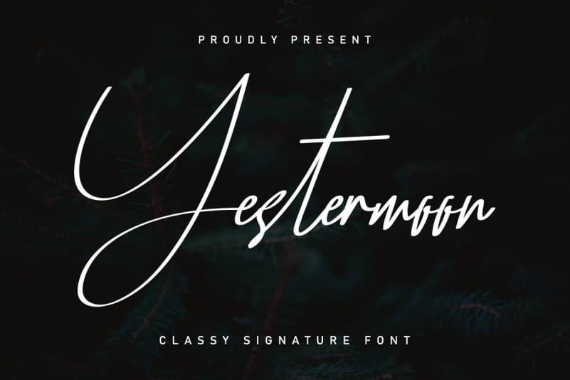 Yestermoon Signature Script Font