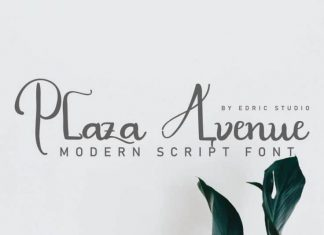 Plaza Avenue Handwriting Font