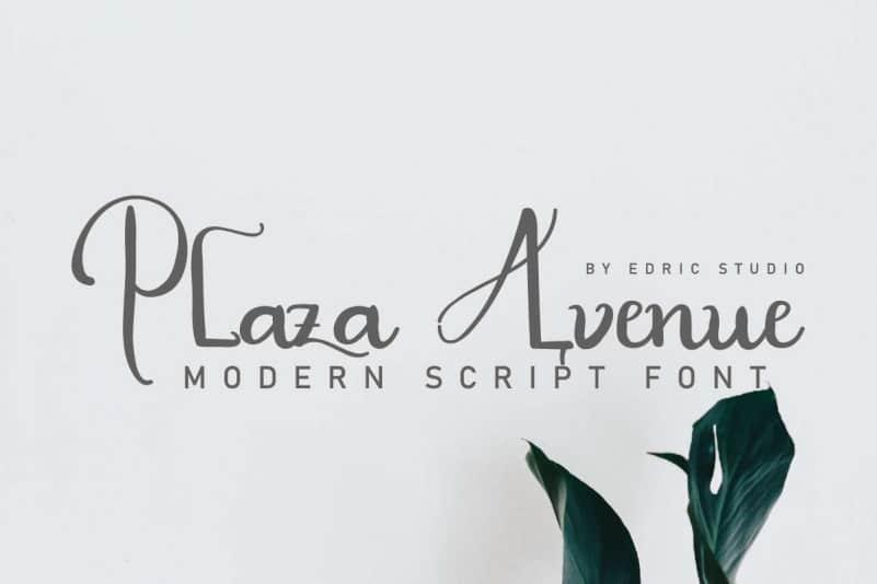 Plaza Avenue Handwriting Font