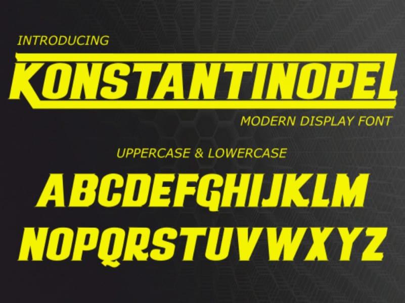 Konstantinopel Display Font