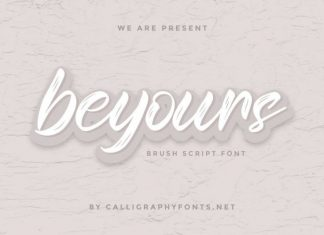 Beyours Calligraphy Script Font