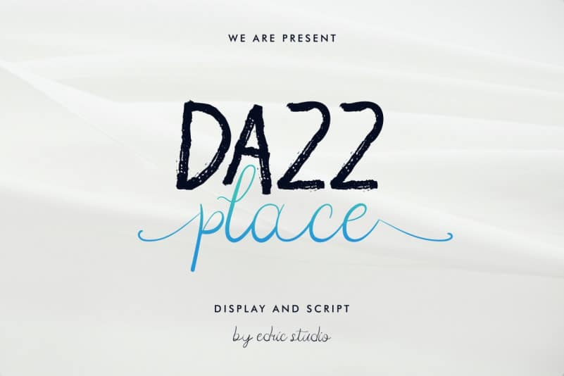 Dazz Place Font Duo Family