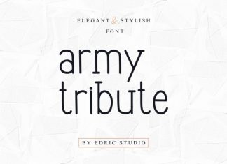 Army Tribute Display Sans Font