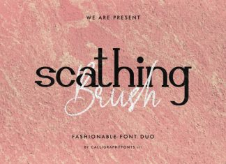 Scathing Brush Font Duo