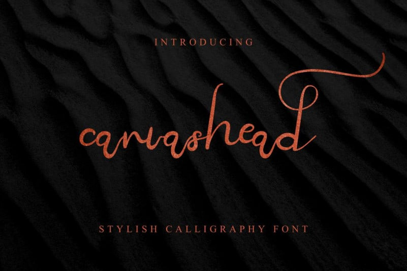 Canvashead Calligraphy Font