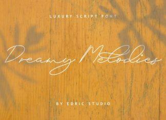 Dreamy Melodies Signature Font