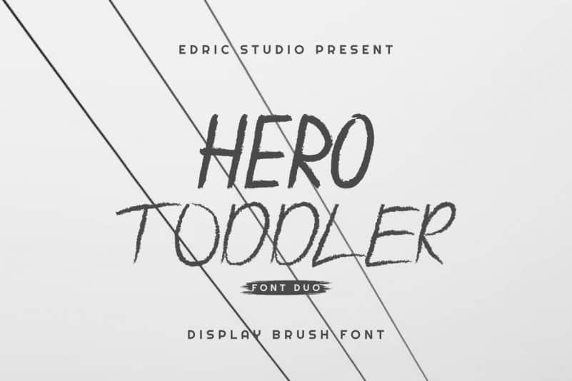 Hero Toddler Font Duo Family
