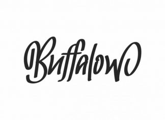Buffalow Brush Hand Lettering Font