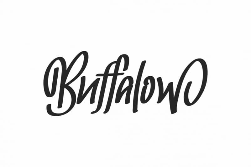 Buffalow Brush Hand Lettering Font
