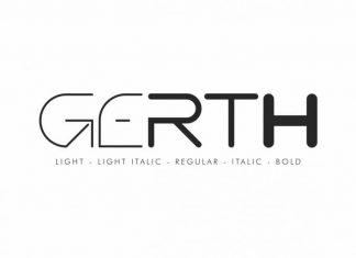 Gerth Sans Serif Font