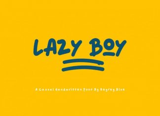 Lazy Boy Display Font