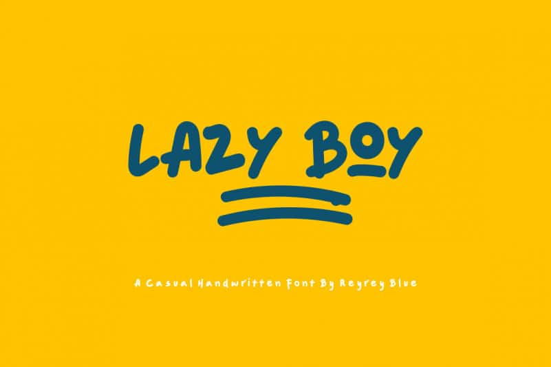 Lazy Boy Display Font