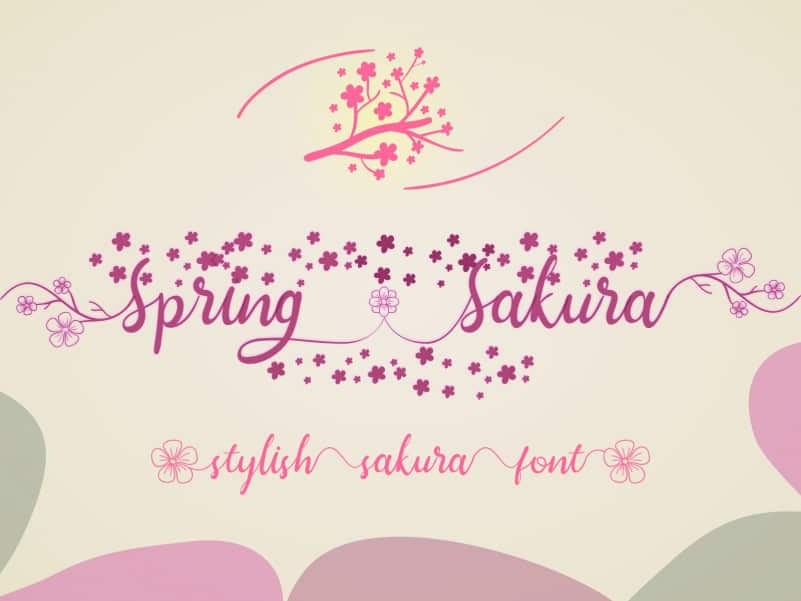Spring Sakura Calligraphy Font
