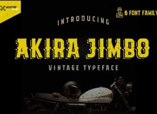 Akira Jimbo Display Font