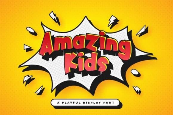 Amazing Kids Display Font