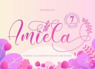 Amiela Calligraphy Font