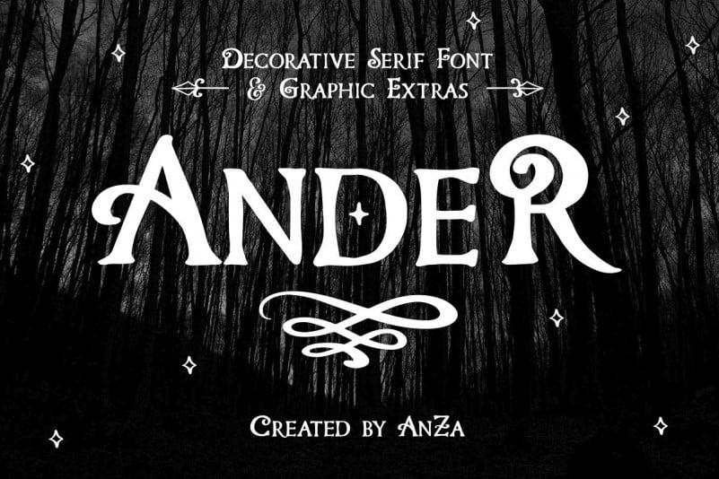 Ander Display Font