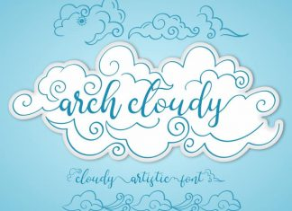 Arch Cloudy Calligraphy Font