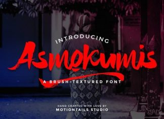 Asmokumis Brush Font