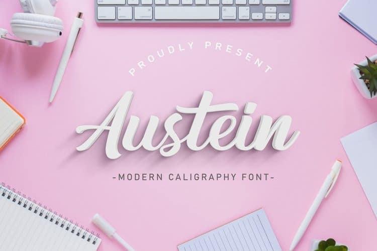 Austein Script Font