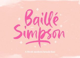 Baille Simpson Brush Font