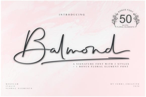 Balmond Handwritten Font