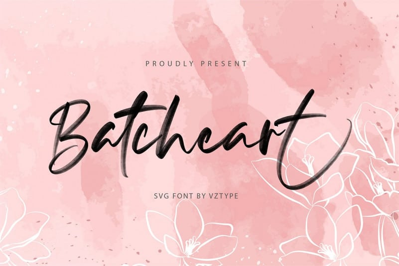 Batcheart Brush Font